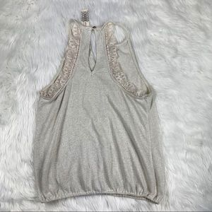 Free People Tops - Free People White and Silver Tank Top
